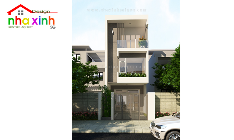 Mẫu Thiết Kế Nhà Phố Đẹp 2 Tầng | Chị Oanh | NP-002