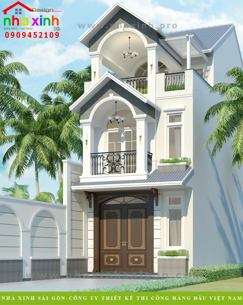 Mẫu Thiết Kế Biệt Thự Đẹp Hiện Đại 2 Tầng | Cô Vân | BT-153