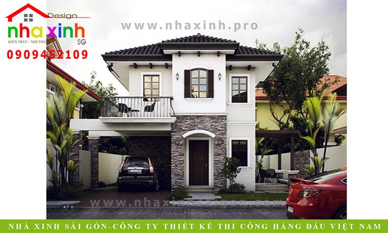 Mẫu Biệt Thự Hiện Đại 2 Tầng | Chị Hằng | BT-154