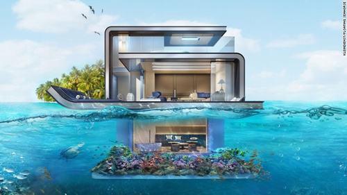 Cận Cảnh Biệt Thự Đẹp Trên Mặt Biển Ở Dubai