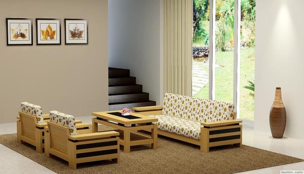 Biệt Thự Đẹp SangTrọng Và Tinh Tế Với Sofa Gỗ