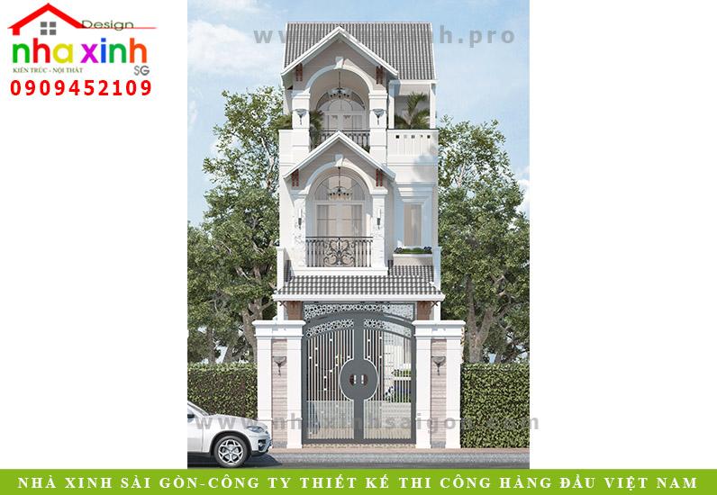 Nhà Phố Đẹp Cổ Điển | Chị Tuyết Hóc Môn | NP- 107