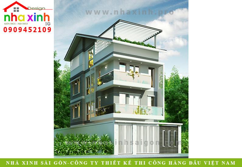 Mẫu Nhà Phố Hiện Đại | Anh Sơn Quận 2 | NP-108