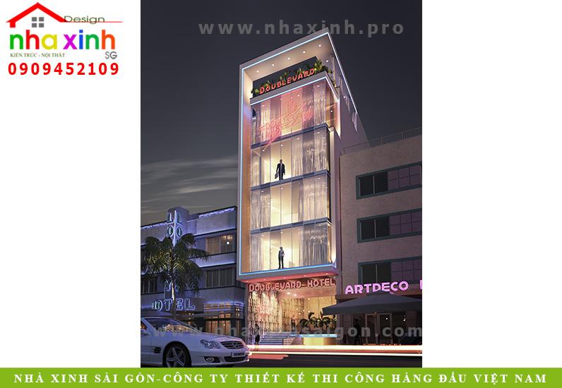 Mẫu Thiết Kế Khách Sạn Của Công Ty Nhà Xinh | Bến Tre | NP-105
