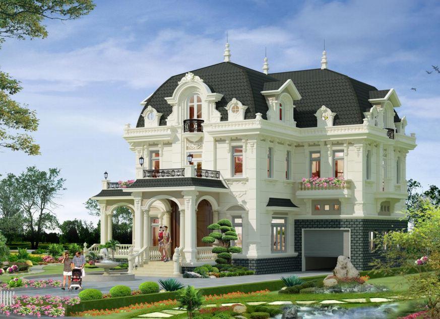 Tổng Hợp Kiến Trúc Biệt Thự Cổ Điển Pháp Tinh Tế | BT-143