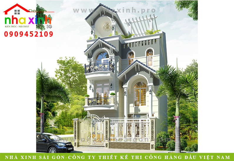 Mẫu Biệt Thự Tân Cổ Điển Mini | Chị Bình | Quận 7 | BT-181