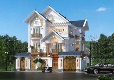 Thiết Kế Biệt Thự Pháp Dát Vàng Sang Trọng | 8 Tỷ | 201