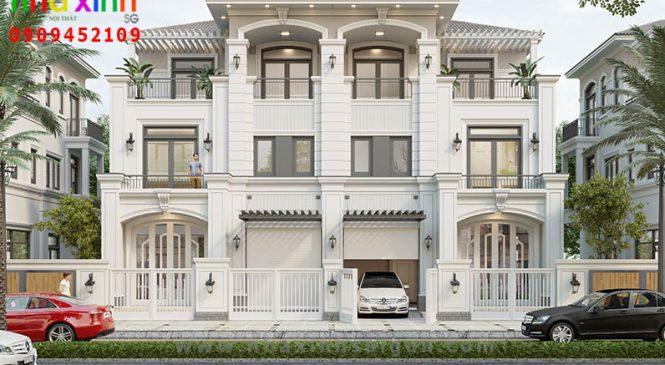Thiết Kế Biệt Thự Phố 2019 Theo Phong Cách Tân Cổ Điển