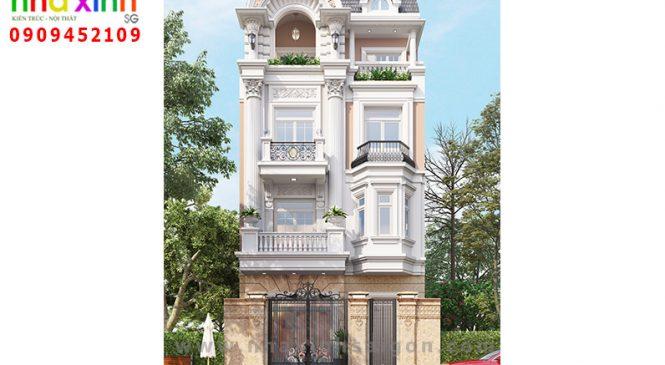 Thiết Kế Nhà Phố Giả Biệt Thự | Bác Khu | Phú Nhuận | NP-205