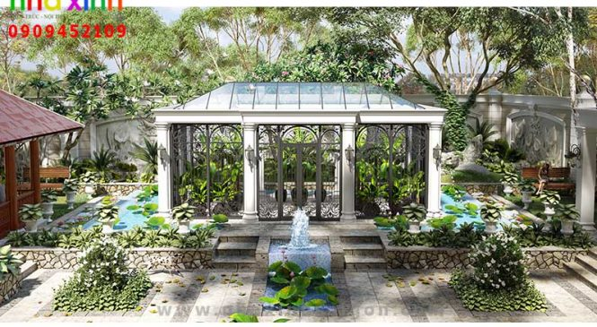 Mẫu Sân Vườn Đẹp Sang Trọng Cho Dinh Thự   NT-209